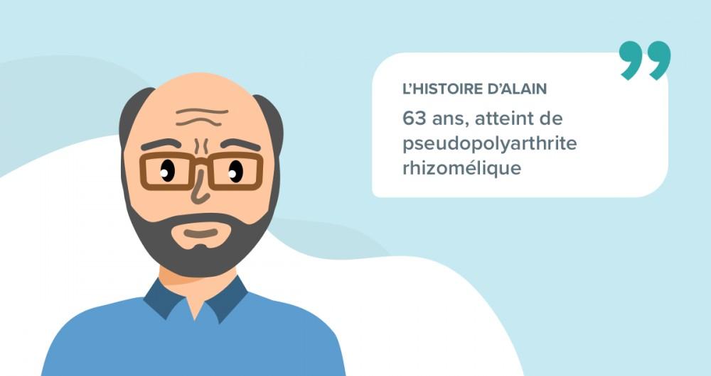 L'histoire d'Alain souffrant de pseudopolyarthrite rhizomélique