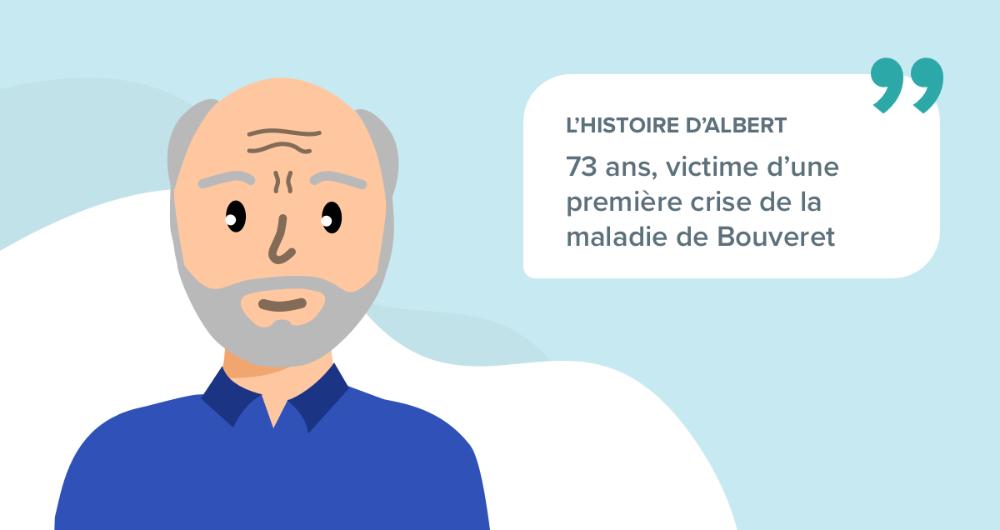 L'histoire d'Albert, 73 ans, victime d'une première crise de la maladie de Bouveret