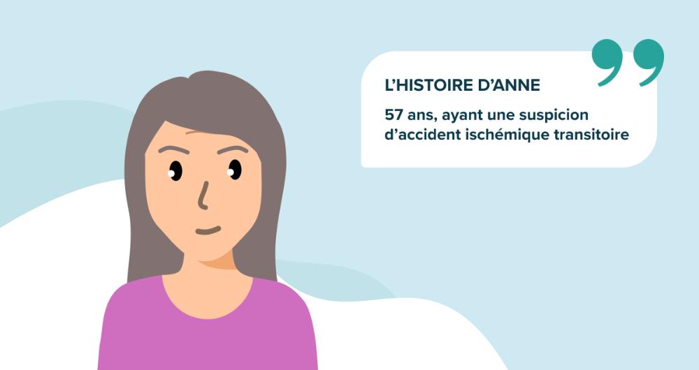 L'histoire d'Anne, 57 ans, ayant une suspicion d'accident ischémique transitoire