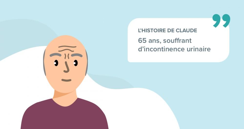 L'histoire de Claude, 65 ans, souffrant d'incontinence urinaire