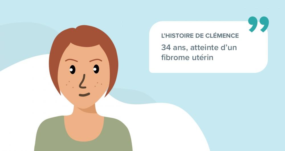 L'histoire de Clémence, 34 ans, atteinte d'un fibrome utérin