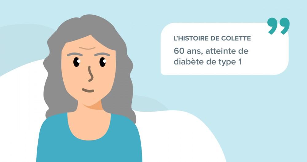 L'histoire de Colette, souffrant de diabète de type 1