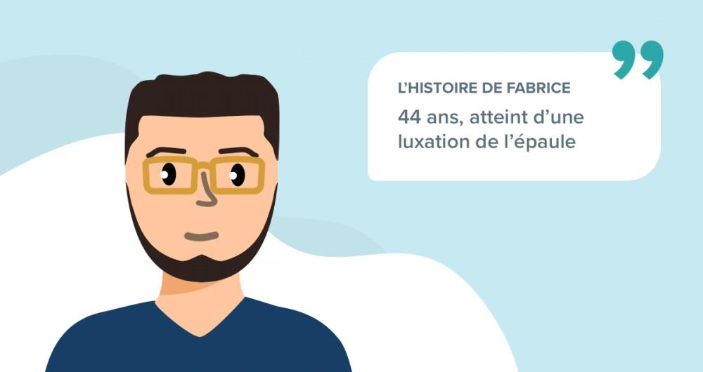 L'histoire de Fabrice, 44 ans, atteint d'une luxation de l'épaule