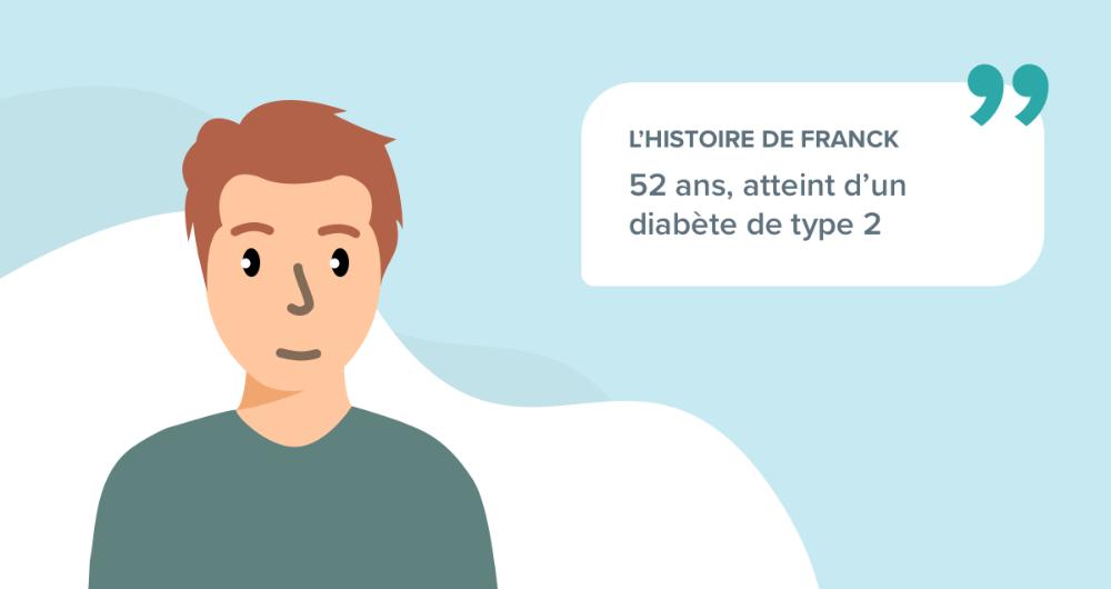 L'histoire de Franck, 50 ans, atteint d'un diabète de type 2