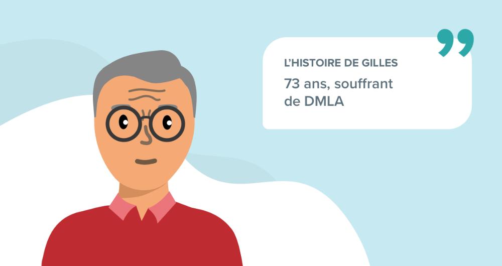 L'histoire de Gilles, 73 ans, souffrant de DMLA