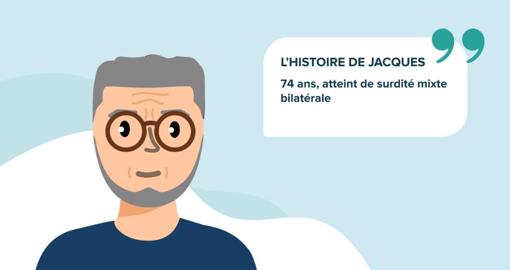 L'histoire de Jacques, 74 ans, atteint de surdité mixte bilatérale