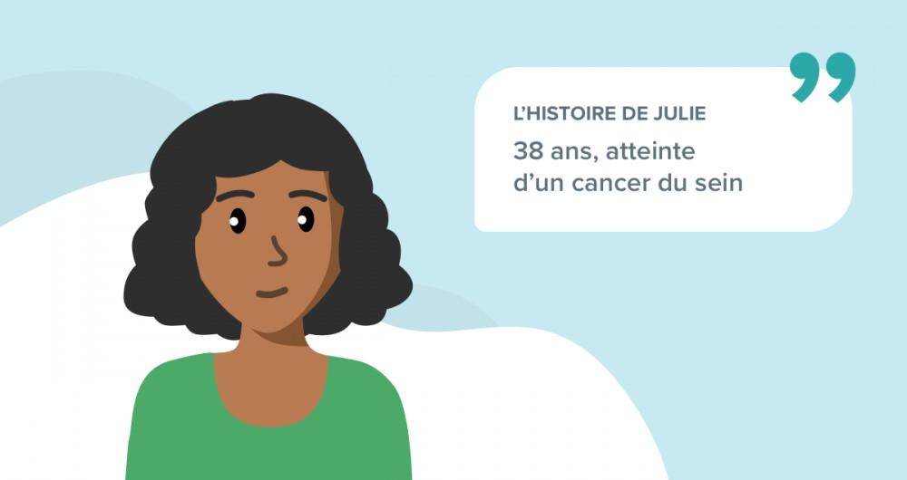 L'histoire de Julie, 38 ans souffrant d'un cancer du sein
