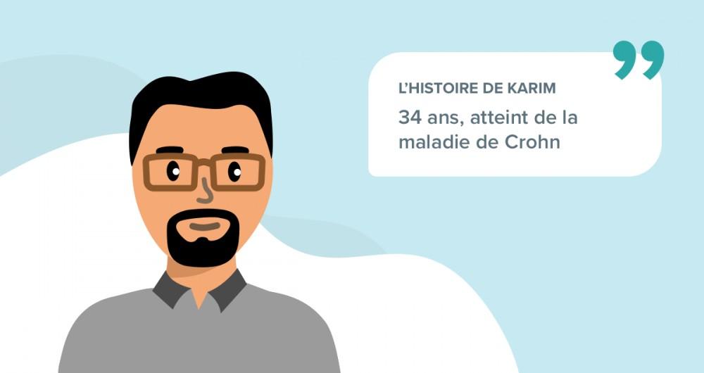 L'histoire de Karim, 34 ans, souffrant de la Maladie de Crohn