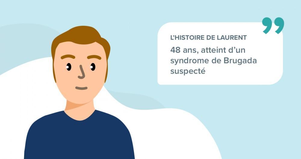 L'histoire de Laurent, 48 ans, atteint d'un syndrome de Brugada suspecté