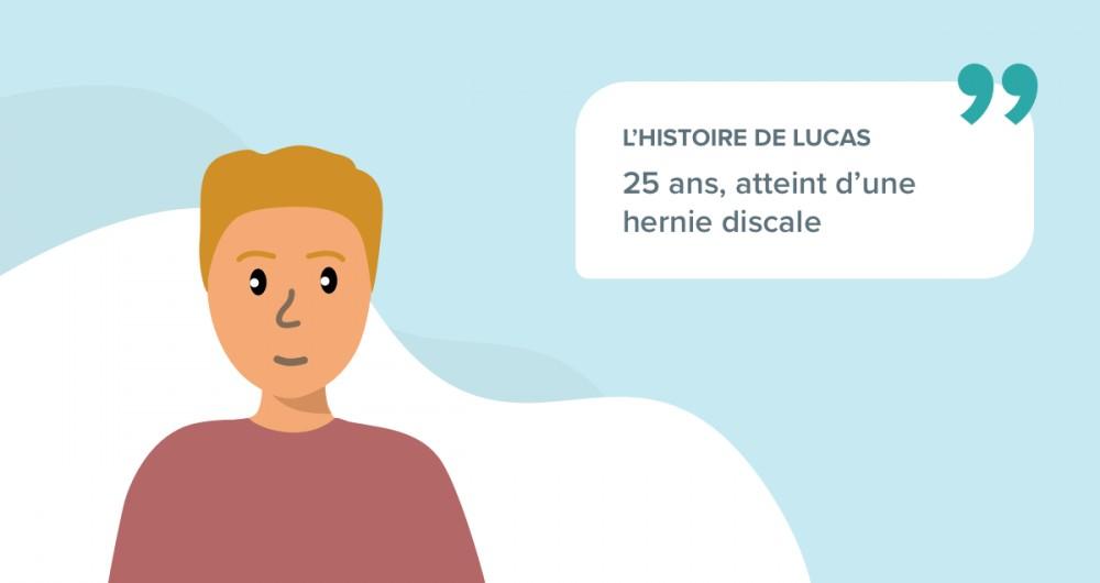 L'histoire de Lucas souffrant d'une hernie discale
