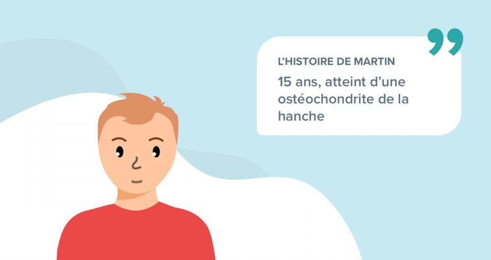 L'histoire de Martin souffrant d'une ostéochondrite de la hanche