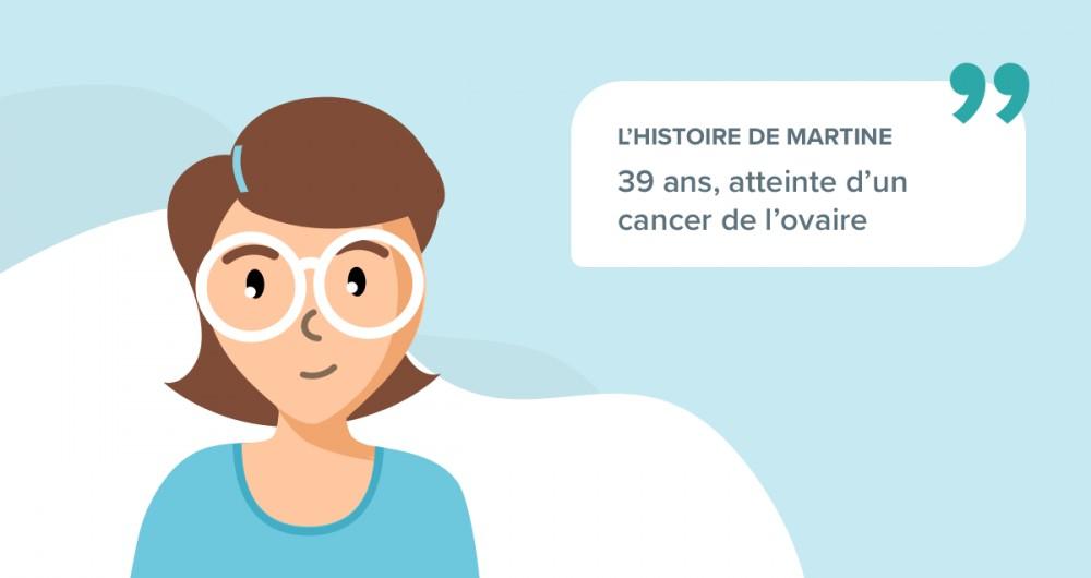 L'histoire de Martine, 39 ans, souffrant d'un cancer de l'ovaire