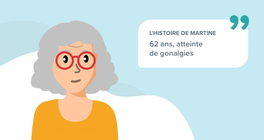 L'histoire de Martine, 62 ans atteinte de gonalgies