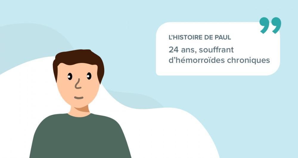 L'histoire de Paul, 24 ans, souffrant d'hémorroïdes chroniques