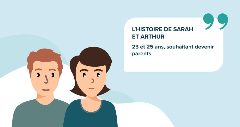 L'histoire de Sarah et Arthur, 23 et 25 ans, souhaitant devenir parents
