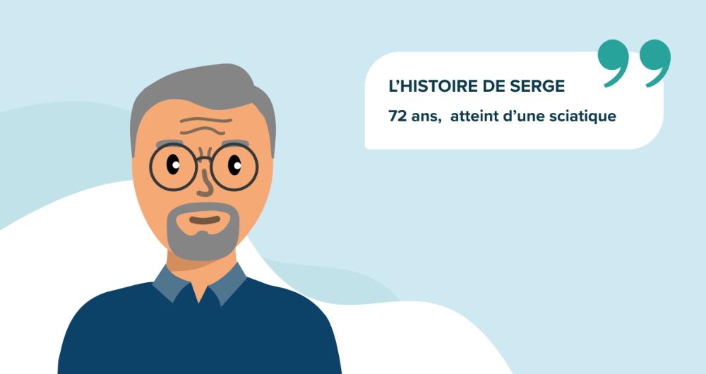 L'histoire de Serge, 72 ans, atteint d'une sciatique