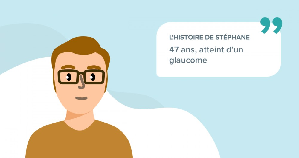 L'histoire de Stéphane, 47 ans, atteint d'un glaucome