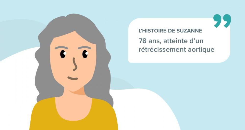L'histoire de Suzanne, 78 ans, atteinte d'un rétrécissement aortique