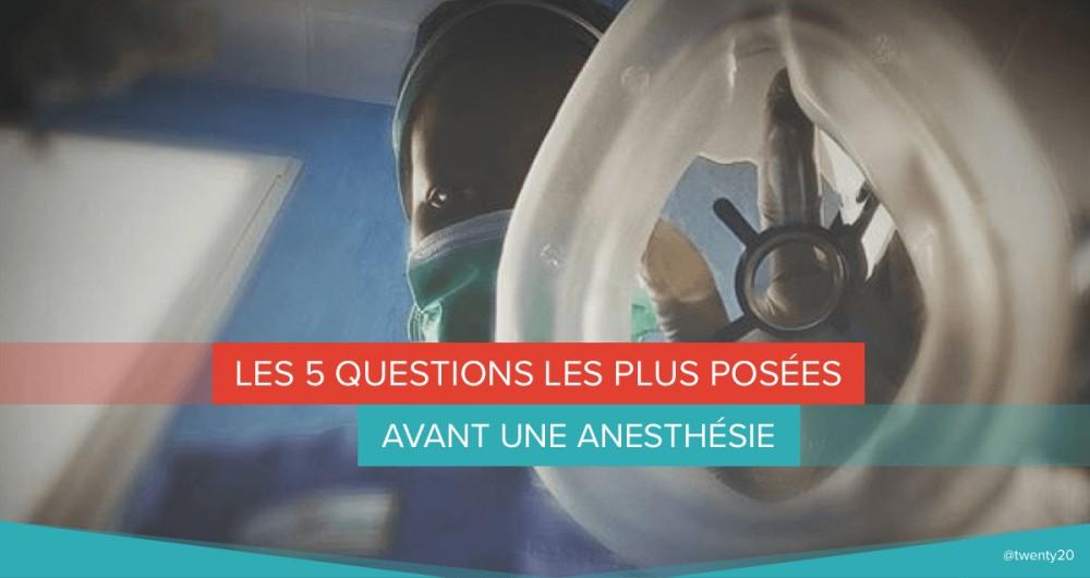questions avant anesthesie